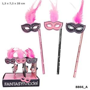 Ołówek z maską i piórkami Fantasy Model Ballet