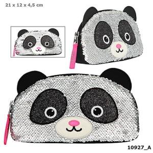 Piórnik kosmetyczka Panda cekiny