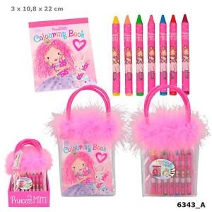 Kolorowanka Princess Mimi z kredkami