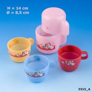 Zestaw 5 plastikowych kubeczków Diddlina Piknik
