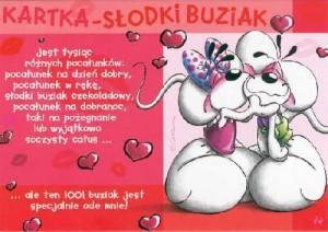 Kartka - Słodki Buziak